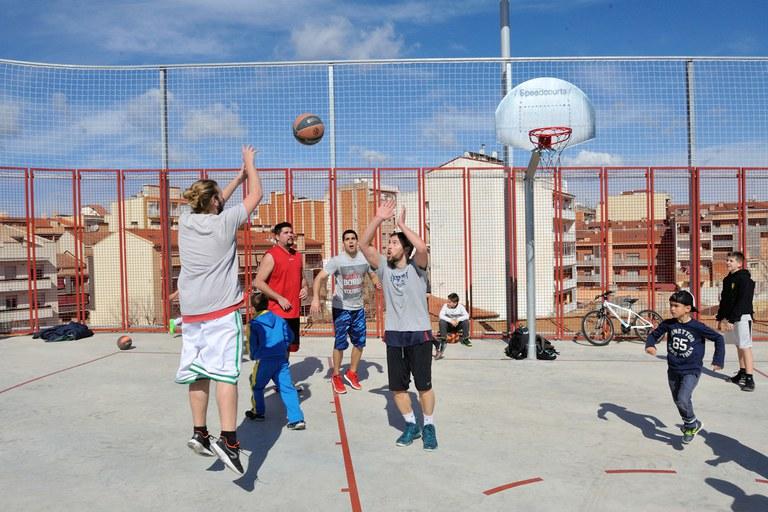 Entre les diferents activitats, s'ha organitzat un 3x3 (foto: Localpres)
