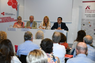 L'acte ha tingut lloc a la biblioteca Mestre Martí Tauler (Foto: Ajuntamnet/Localpres).