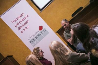 Anterior trobada presencial dels pressupostos participatius 2020 (Foto: Ajuntament /Lali Puig).