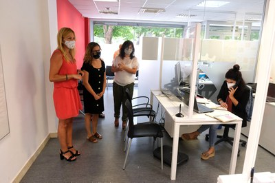 L'Alcaldessa ha visitat el servei aquest dilluns  (Foto: Ajuntament/Localpres).