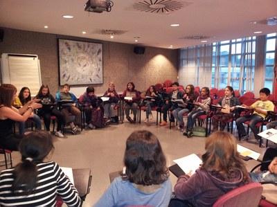 La primera reunió del nou Consell dels Infants ha tingut lloc aquest dimecres al Rubí+D.