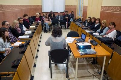 Sessió constitutiva de la Taula d'inclusió social (foto: Localpres).