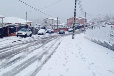 Neu a les urbanitzacions.
