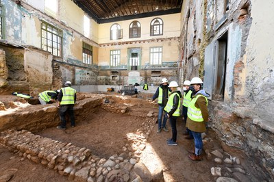 L'alcaldessa i els regidors han visitat l'obra aquest dimecres (foto: Ajuntament de Rubí – Localpres).