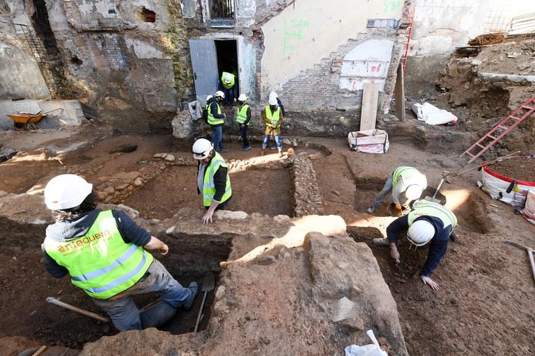 Treballs d'arqueologia al Casino (foto: Ajuntament de Rubí - Localpres)
