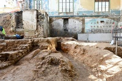 Les obres han posat al descobert diverses estructures romanes (foto: Ajuntament de Rubí - Localpres)