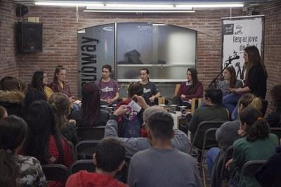 L'acte ha reunit a les rubinenques Irene López, Marina Valencia, Eva Marqués, Shauny Ortega, Amanda Triviño i Bea Ortiz (foto: Localpres).