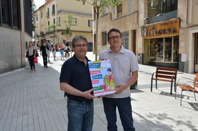 Miquel Ortuño de la FACGR, a l'esquerra, i Rafel Güeto han presentat la jornada.