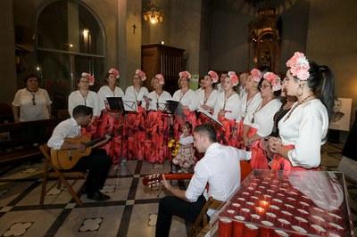 La missa rociera s'ha celebrat a la parròquia de Sant Pere (foto: Ajuntament de Rubí – Localpres).