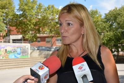 L'alcaldessa ha presentat el projecte a Ca n'Oriol, un dels primers barris que es visitaran en el marc d'aquest projecte.