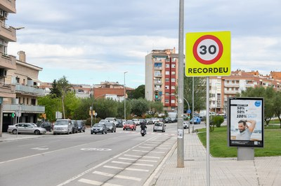 L'avinguda de l'Estatut és una de les vies que té la velocitat limitada a 30 km/h (foto: Ajuntament - Localpres).