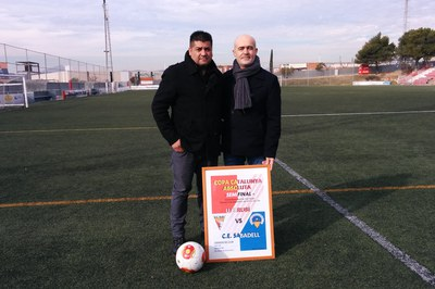 Juan López i Antoni López han presentat aquest dimecres el partit que disputarà la UE Rubí contra el CE Sabadell.