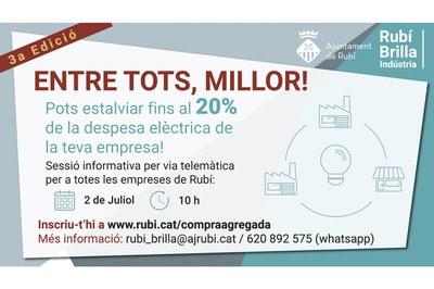 Dijous s'ha convocat una sessió informativa en línia (foto: Ajuntament de Rubí).