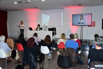 La jornada s'ha celebrat a la Biblioteca i s'ha pogut seguir en streaming pel canal de YouTube del Consistori (foto: Ajuntament de Rubí – Localpres).