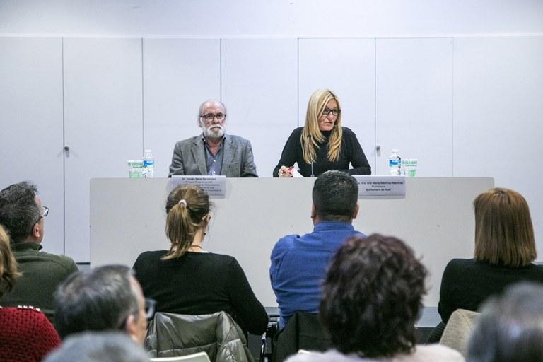 Imatge de la conferència (foto: Ajuntament – Lali Puig)