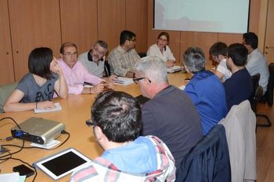 Els membres de la Taula de seguiment de l'espai públic i la mobilitat s'han reunit aquest dimecres (foto: Localpres).