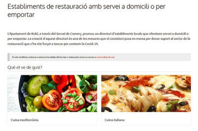 Detall de la web municipal (foto: Ajuntament de Rubí).