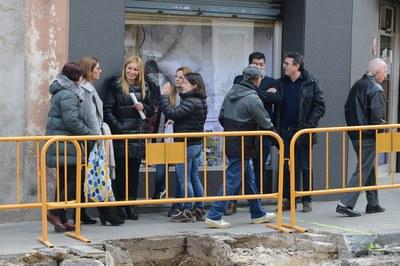 L'alcaldessa i els regidors, durant la visita d'obres (foto: Localpres).