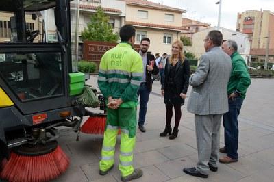 L'alcaldessa i el regidor de Medi Ambient han presentat el pla de reforç de neteja durant una roda de premsa (foto: Localpres).