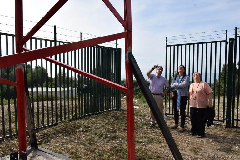 L'alcaldessa, Carme García, ha visitat el Centre de Telecomunicacions (foto: Localpres)
