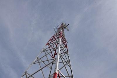 L'antena medeix 40 metres d'alçada (foto: Localpres)
