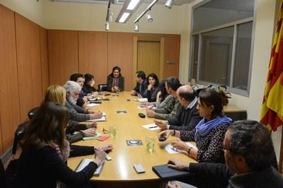Els membres de la Mesa de seguiment dels abocadors de Rubí s'han reunit aquest dimarts a l'Ajuntament (foto: Localpres).
