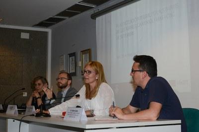Martínez i Güeto, durant la presentació de la primera fase del projecte a les entitats d'aquests tres barris (foto: Localpres).