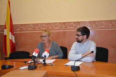 L'alcaldessa i el regidor de Medi Ambient han presentat el pla de xoc davant dels mitjans de comunicació.