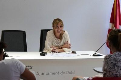 L'alcaldessa, durant la presentació dels projectes que opten als fons Next Generation (foto: Ajuntament de Rubí - Localpres).