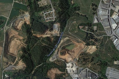 El control cinegètic tindrà lloc diumenge entre els torrents de Tallafigueres i Mas Jornet (foto: GoogleMaps).
