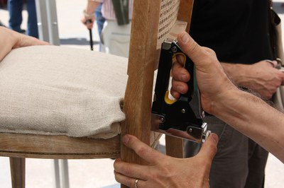 L'objectiu dels ECOtallers en clau de RE és fomentar la restauració, la reparació i la reutilització dels objectes.