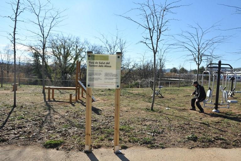 El nou parc de salut està ubicat prop del torrent dels Alous, una zona on la ciutadania hi va a realitzar esport (foto: Localpres)