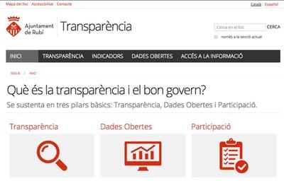 El nou portal es pot consultar a l'enllaç 'transparencia.rubi.cat'.