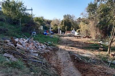Totes les construccions il·legals del torrent dels Alous ja han estat retirades (foto: Ajuntament de Rubí).