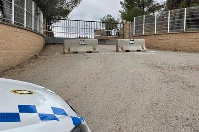 La Policia Local ha fet efectiu el tancament aquest dimarts al matí (foto: Ajuntament de Rubí).