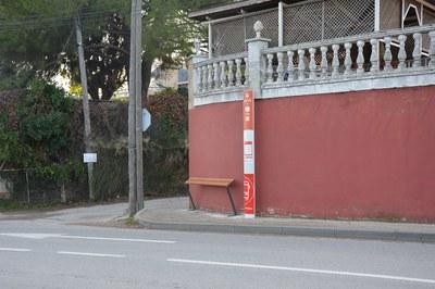 Una de les parades on s'ha instal·lat aquest tipus de suports és la de Sant Muç (foto: Ajuntament de Rubí).