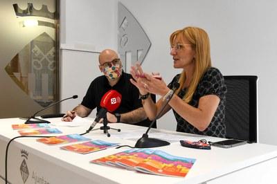 L'alcaldessa i el regidor de Ciutadania en un moment de la roda de premsa  (foto: Ajuntament de Rubí - Localpres).