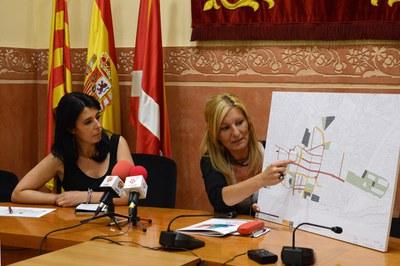 Arés Tubau i Ana María Martínez, durant la presentació del projecte (foto: Localpres).