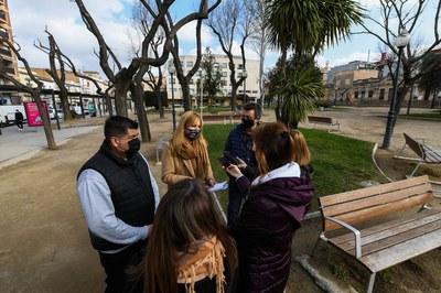 L'alcaldessa i els regidors, durant la presentació del pla (foto: Ajuntament de Rubí – Localpres).