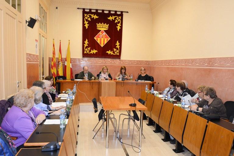 L'alcaldessa i la regidora de l'Àrea de Serveis Socials han presidit el Plenari del Consell Consultiu de la Gent Gran (foto: Localpres)