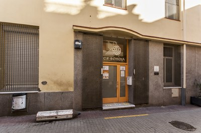 L'escola Schola està ubicada al carrer de Sant Pere (foto: Ajuntament de Rubí - César Font).