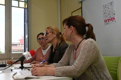 Mas, Martínez i García, durant la presentació de les colònies OASIS (foto: Localpres).