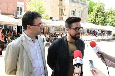 Moisés Rodríguez i Jordi Pietx, durant la presentació de la campanya (foto: Localpres).