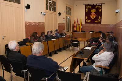 La Mesa de seguiment dels abocadors ha estat presidida per l'alcaldessa (foto: Localpres).