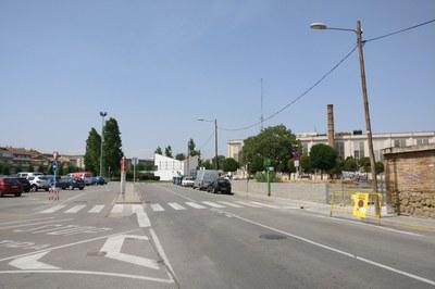 Zona afectada per les obres.