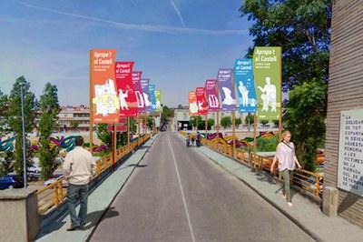 Imatge virtual que mostra com quedarà el pont del carrer Cadmo (Ajuntament de Rubí).