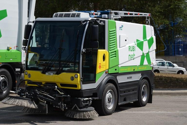 Imatge de l'escombradora dual (foto: Localpres)