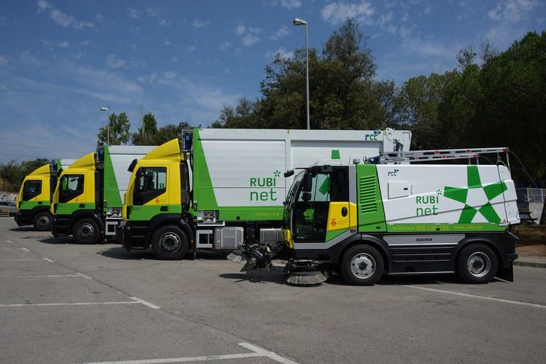 Imatge dels nous camions (foto: Localpres)