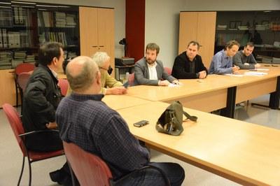 Aquesta ha estat la segona vegada que s'ha reunit la comissió cívica del projecte Buits plens (foto: Localpres).