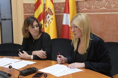 L'alcaldessa i la regidora d'Habitatge (foto: Ajuntament de Rubí – Localpres).